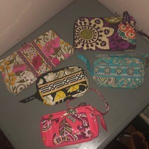 Vera Bradley Lot of 5 wallets wristlets bundle